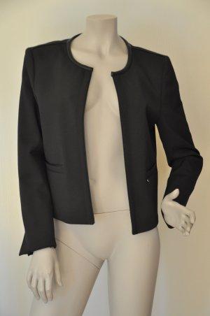 Rich&Royal Blazer QUEENS Details Lederoptik schwarz Gr. 40 UNGETRAGEN