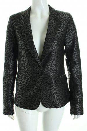 Rich & Royal Blazer schwarz-silberfarben abstraktes Muster Party-Look