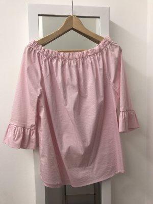 Rich & Royal Blusa tipo Carmen blanco-rosa claro