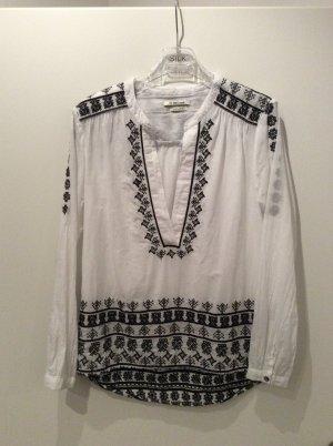 Rich&Royal Bluse schwarz/weiß