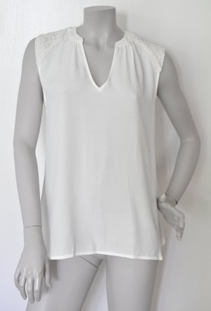 Rich & Royal Bluse Top 51Q773 mit Spitze Viskose off-white Gr. 38 - UNGETRAGEN