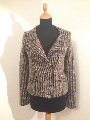 Rich & Royal Bouclé Biker Blazer Jacke braun petrol Edel Luxus Blogger Office