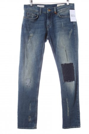 Rich & Royal Boyfriendjeans blau Destroy-Optik