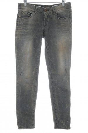 Rich & Royal Boyfriendjeans graubraun-hellbraun Farbtupfermuster Jeans-Optik