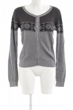 Rich & Royal Cardigan grau-anthrazit Punktemuster 90ies-Stil