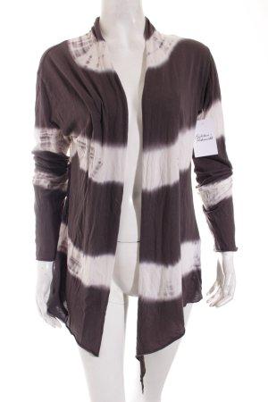 Rich & Royal Cardigan grau-weiß Farbverlauf