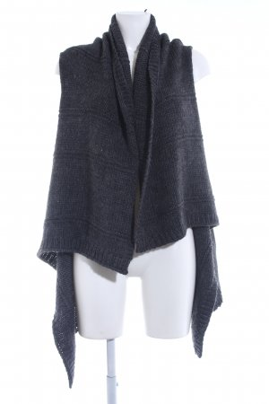 Rich & Royal Cardigan graublau Webmuster Kuschel-Optik