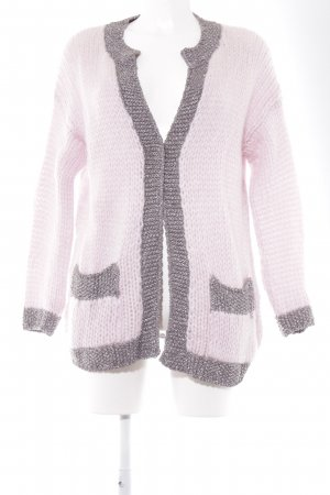 Rich & Royal Cardigan silberfarben-hellrosa Street-Fashion-Look