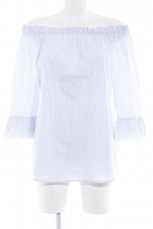 Rich & Royal Carmen Blouse white-azure striped pattern casual look
