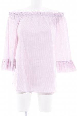 Rich & Royal Carmen Blouse white-magenta striped pattern casual look