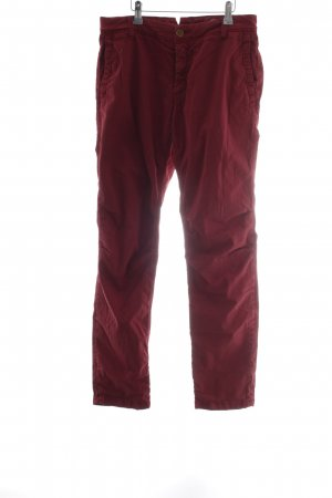 Rich & Royal Chinohose bordeauxrot Casual-Look