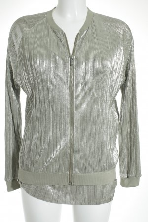 Rich & Royal College Jacket green grey-silver-colored '20s style
