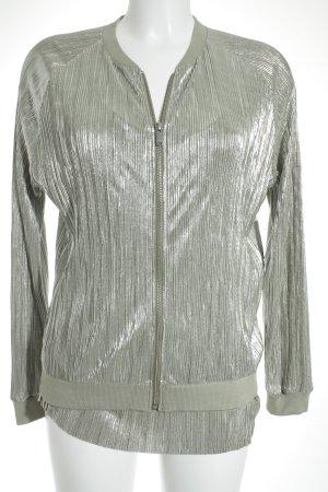 Rich & Royal Collegejacke grüngrau-silberfarben 20ies-Stil