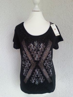 Rich&Royal cooles Shirt schwarz Gr.M/38 neu