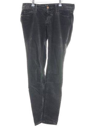 Rich & Royal Pantalone di velluto a coste nero stile casual