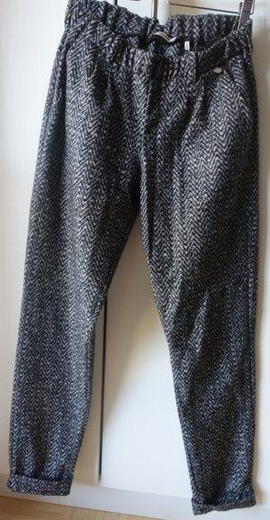 Rich & Royal 7/8 Length Trousers dark grey-taupe mixture fibre