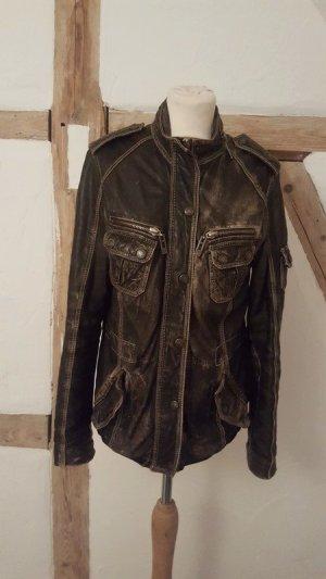 Rich & Royal Echtleder Jacke Used Vintage Look Größe M
