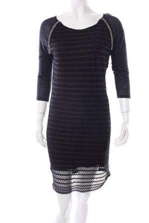 Rich & Royal Etuikleid schwarz extravaganter Stil