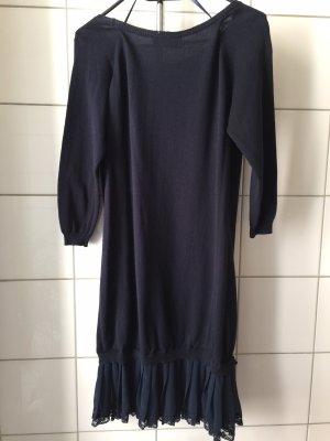 Vestido de lana azul oscuro