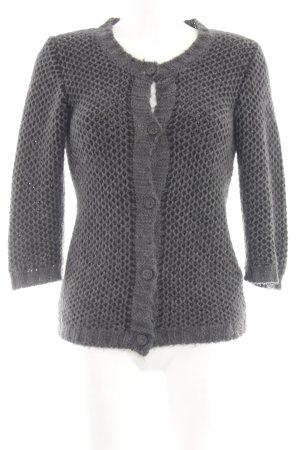 Rich & Royal Cárdigan de punto grueso gris claro Patrón de tejido elegante