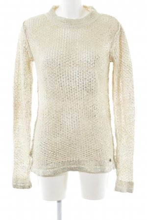 Rich & Royal Grobstrickpullover creme-goldfarben Casual-Look