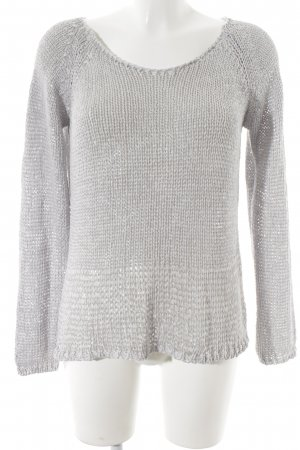 Rich & Royal Grobstrickpullover hellgrau Casual-Look