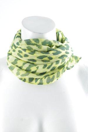 Rich & Royal Halsdoek groen-neon groen luipaardprint extravagante stijl