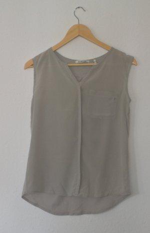 Rich & Royal Blouse Top light grey silk