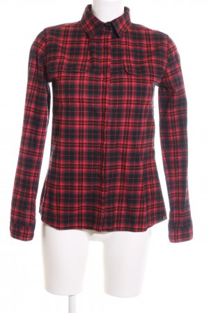 Rich & Royal Chemise de bûcheron rouge-noir motif à carreaux