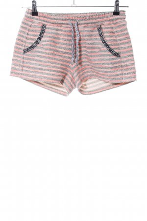 Rich & Royal Hot Pants light grey-pink striped pattern casual look
