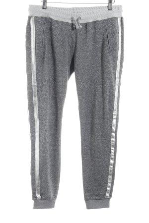 Rich & Royal Pantalone a vita bassa grigio-grigio chiaro puntinato stile casual
