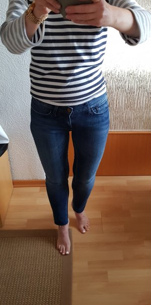 Rich & Royal Jeans Super Skinny W27 Knöchellang blau offener Saum