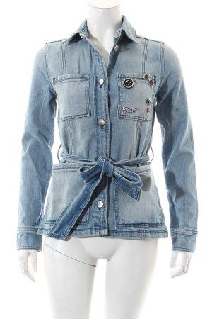 Rich & Royal Jeansjacke blau Dekoelemente