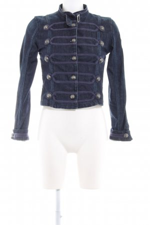 Rich & Royal Jeansjacke dunkelblau Casual-Look