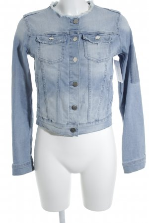 Rich & Royal Jeansjacke hellblau Destroy-Optik