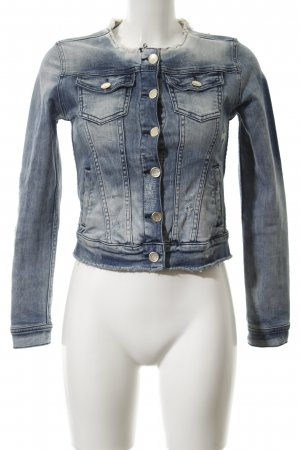 Rich & Royal Jeansjacke mehrfarbig Used-Optik