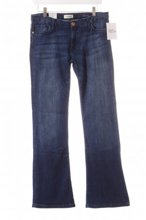Rich & Royal Jeansschlaghose dunkelblau Casual-Look