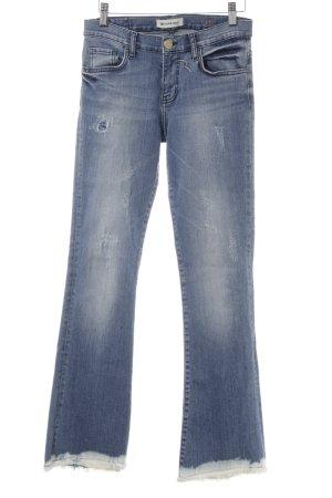 Rich & Royal Jeansschlaghose mehrfarbig Destroy-Optik