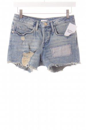 Rich & Royal Jeansshorts hellblau Destroy-Optik