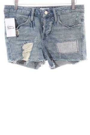 Rich & Royal Jeansshorts hellblau-weiß Destroy-Optik