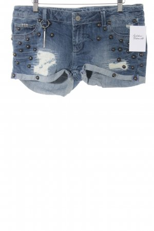 Rich & Royal Jeansshorts stahlblau-dunkelgrau Casual-Look