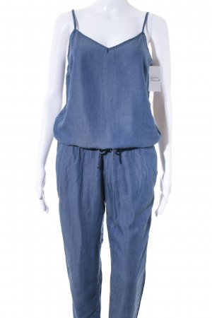 Rich & Royal Jumpsuit stahlblau-kornblumenblau Street-Fashion-Look