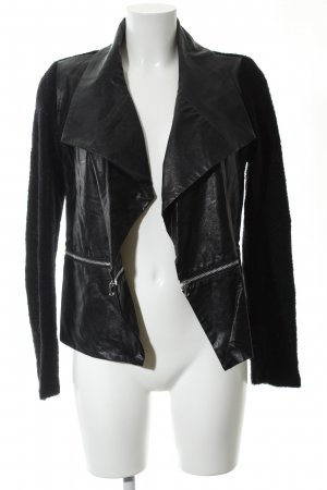 Rich & Royal Kunstlederjacke schwarz Casual-Look