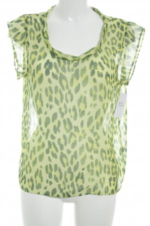 Rich & Royal Kurzarm-Bluse wiesengrün-khaki Animalmuster Elegant