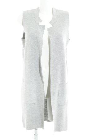 Rich & Royal Cardigan a maniche corte grigio chiaro stile casual