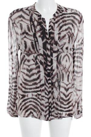 Rich & Royal Langarm-Bluse Allover-Druck klassischer Stil