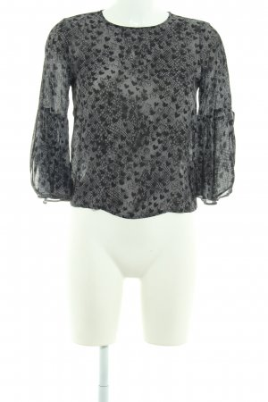 Rich & Royal Langarm-Bluse anthrazit-schwarz Animalmuster Casual-Look