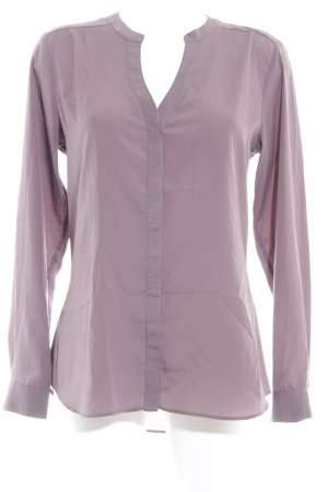 Rich & Royal Langarm-Bluse graubraun-graulila Casual-Look