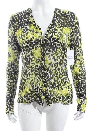 Rich & Royal Langarm-Bluse Leomuster extravaganter Stil
