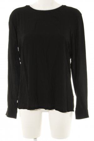 Rich & Royal Langarm-Bluse schwarz Casual-Look